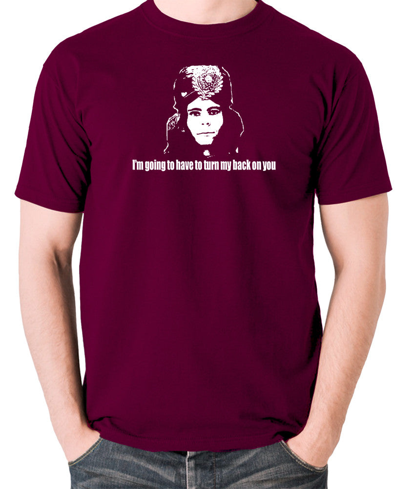 The Mighty Boosh - Naboo, I'm Going To Have To Turn My Back On You - Men's T Shirt - burgundy