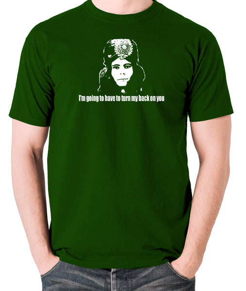 The Mighty Boosh - Naboo, I'm Going To Have To Turn My Back On You - Men's T Shirt - green