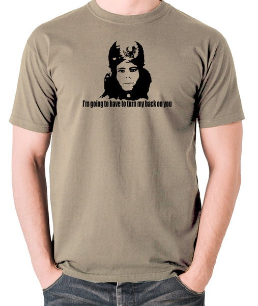 The Mighty Boosh - Naboo, I'm Going To Have To Turn My Back On You - Men's T Shirt - khaki