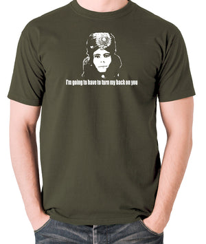 The Mighty Boosh - Naboo, I'm Going To Have To Turn My Back On You - Men's T Shirt - olive