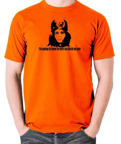 The Mighty Boosh - Naboo, I'm Going To Have To Turn My Back On You - Men's T Shirt - orange