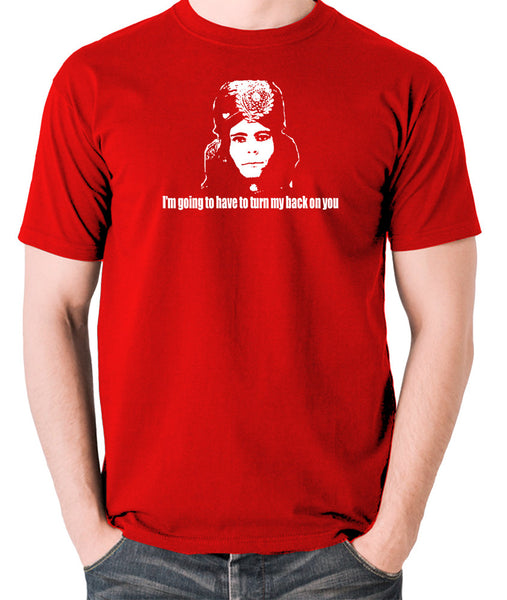 The Mighty Boosh - Naboo, I'm Going To Have To Turn My Back On You - Men's T Shirt - red