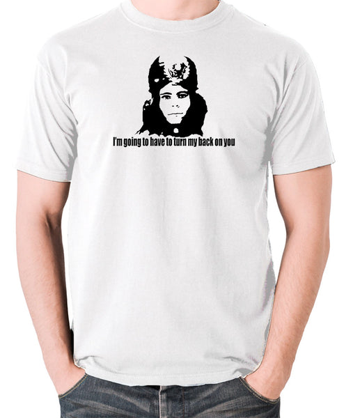 The Mighty Boosh - Naboo, I'm Going To Have To Turn My Back On You - Men's T Shirt - white