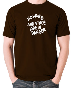 The Mighty Boosh - Howard And Vince Danger - Men's T Shirt - chocolate