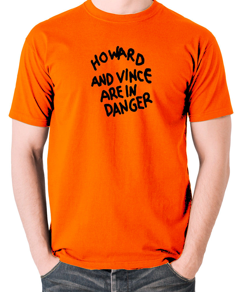 The Mighty Boosh - Howard And Vince Danger - Men's T Shirt - orange