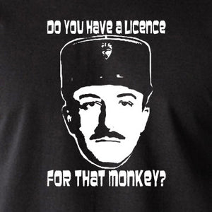 The Pink Panther - Inspector Clouseau, Do You Have A Licence For That Monkey - Men's T Shirt