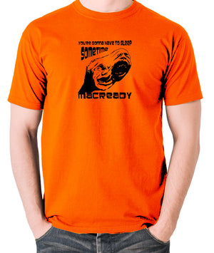 The Thing - You're Gonna Have To Sleep Sometime MacReady - Men's T Shirt - orange
