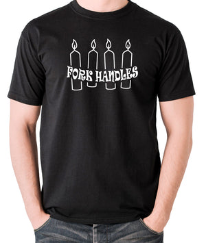 The Two Ronnies - Four Candles Fork Handles - Men's T Shirt - black