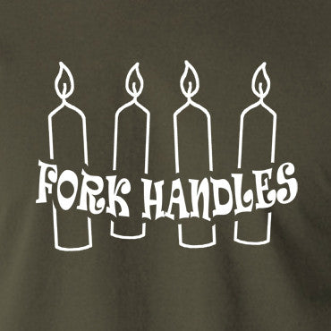 The Two Ronnies - Four Candles Fork Handles - Men's T Shirt