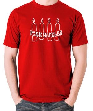 The Two Ronnies - Four Candles Fork Handles - Men's T Shirt - red