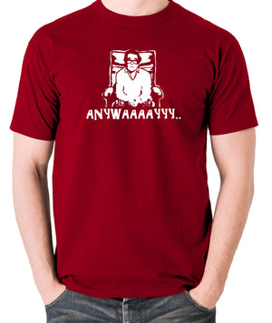 The Two Ronnies - Ronnie Corbett, Anywayyyy - Men's T Shirt - brick red