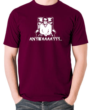 The Two Ronnies - Ronnie Corbett, Anywayyyy - Men's T Shirt - burgundy