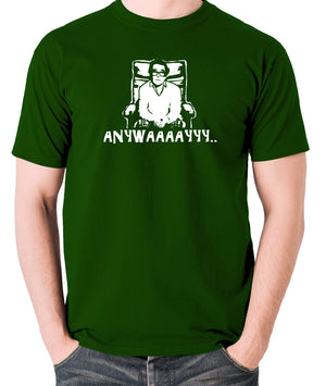 The Two Ronnies - Ronnie Corbett, Anywayyyy - Men's T Shirt - green