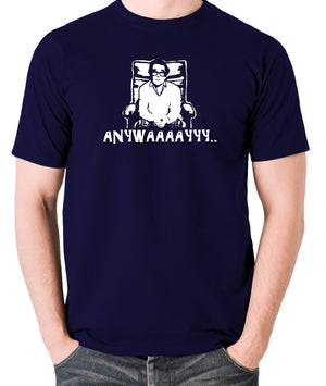 The Two Ronnies - Ronnie Corbett, Anywayyyy - Men's T Shirt - navy