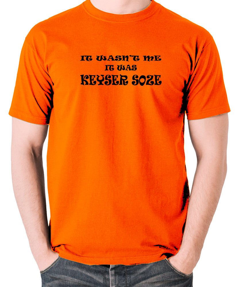 The Usual Suspects - Keyser Soze - Men's T Shirt - orange