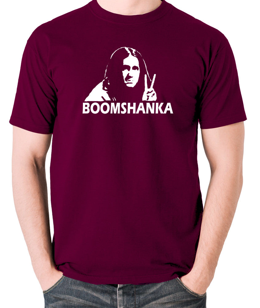 The Young Ones - Neil Boomshanka - Men's T Shirt - burgundy