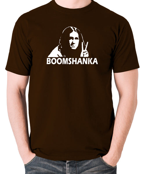The Young Ones - Neil Boomshanka - Men's T Shirt - chocolate