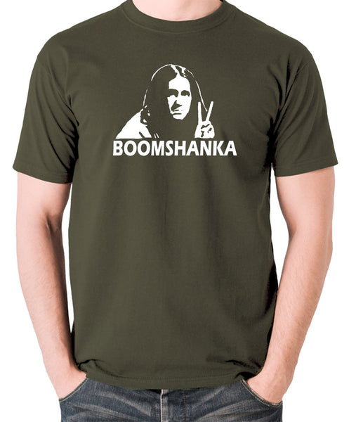 The Young Ones - Neil Boomshanka - Men's T Shirt - olive