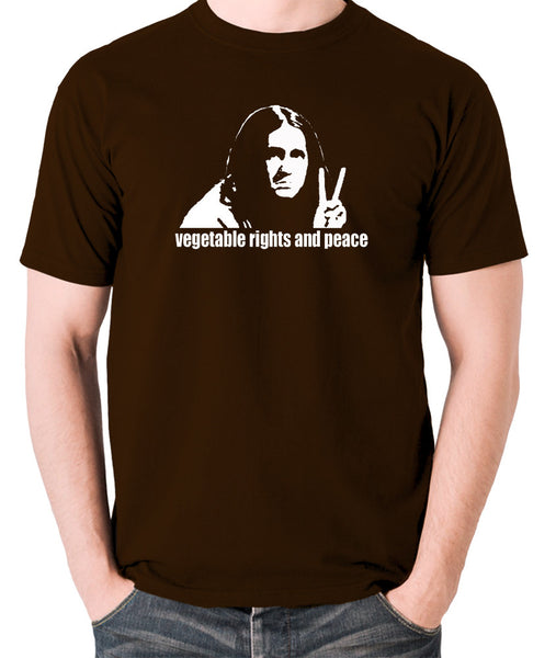 The Young Ones - Neil Vegetable Rights And Peace - Men's T Shirt - chocolate