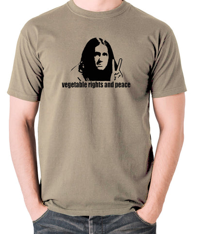 The Young Ones - Neil Vegetable Rights And Peace - Men's T Shirt - khaki