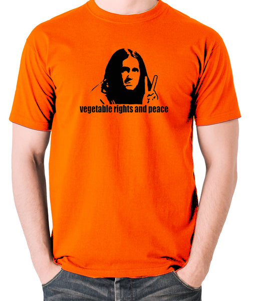 The Young Ones - Neil Vegetable Rights And Peace - Men's T Shirt - orange