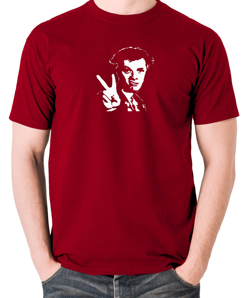 The Young Ones - Rick, Peace - Men's T Shirt - brick red