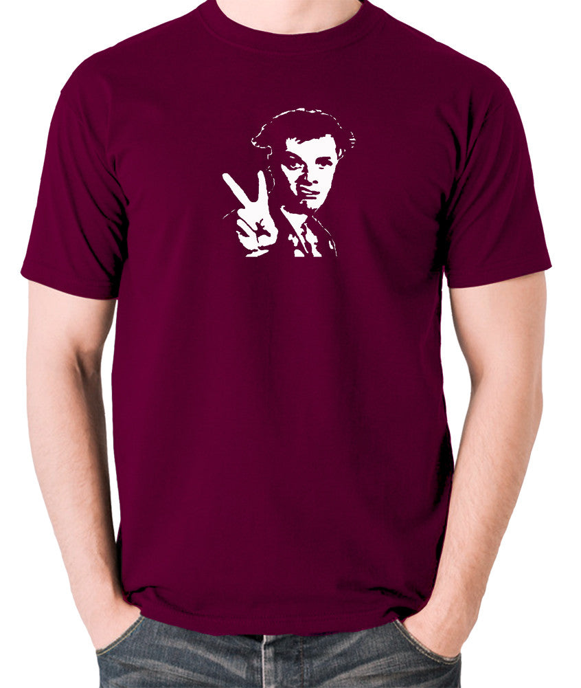 The Young Ones - Rick, Peace - Men's T Shirt - burgundy