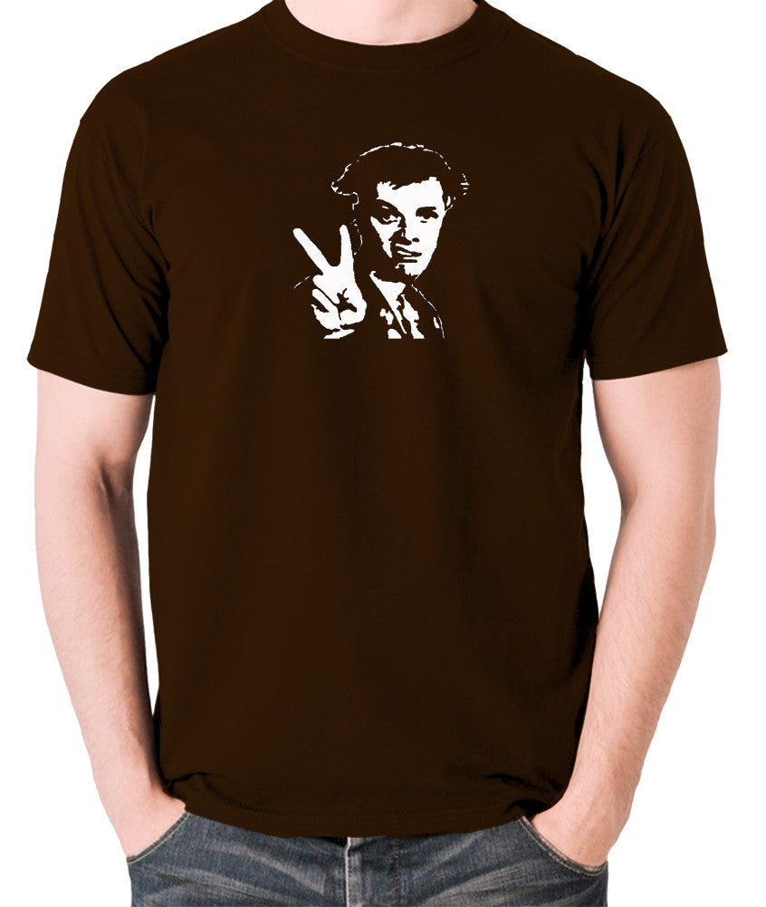 The Young Ones - Rick, Peace - Men's T Shirt - chocolate