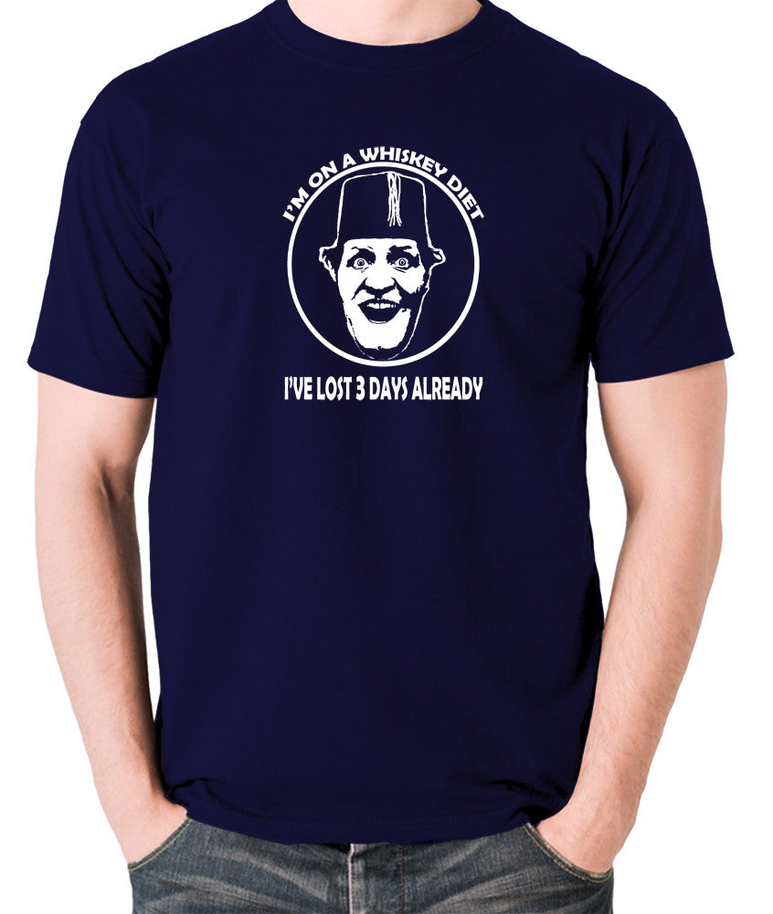 Tommy Cooper - I'm on a Whiskey Diet, I've Lost Three Days Already - Men's T Shirt - navy