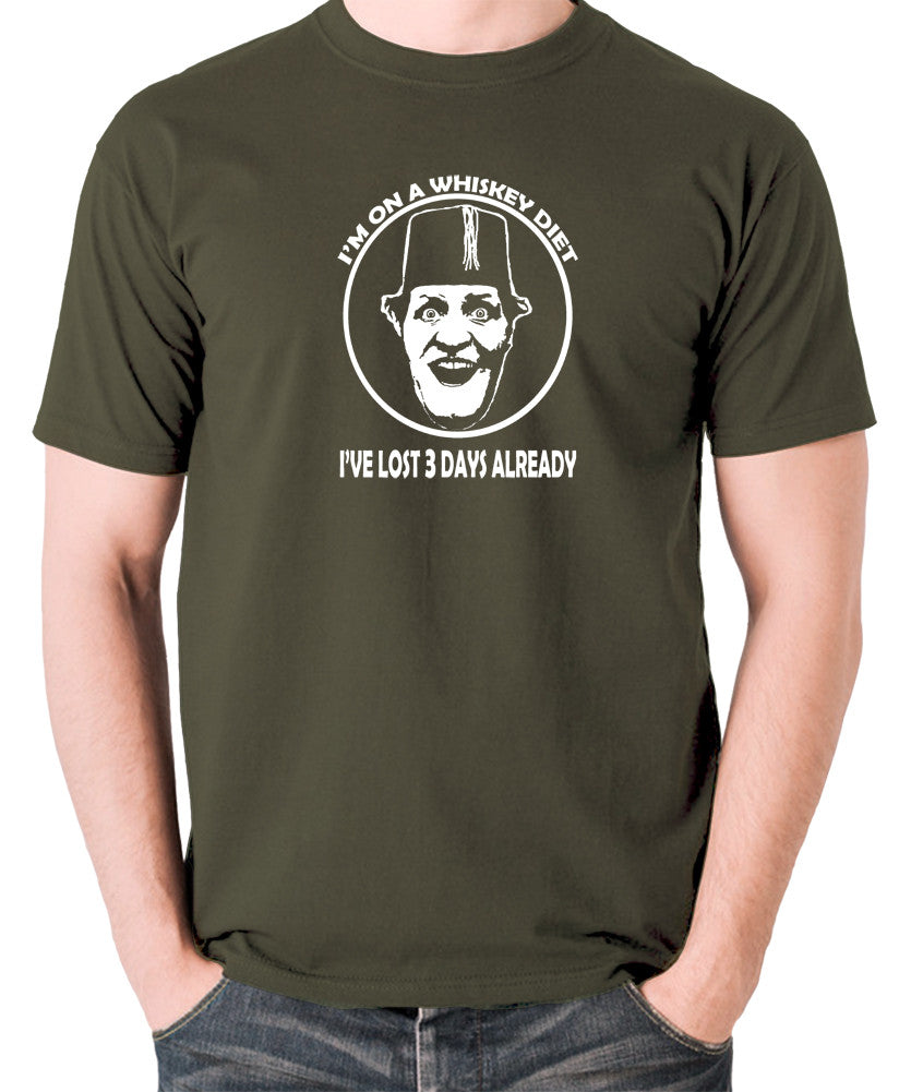 Tommy Cooper - I'm on a Whiskey Diet, I've Lost Three Days Already - Men's T Shirt - olive