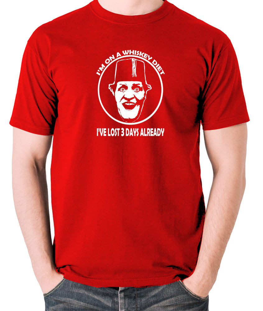 Tommy Cooper - I'm on a Whiskey Diet, I've Lost Three Days Already - Men's T Shirt - red