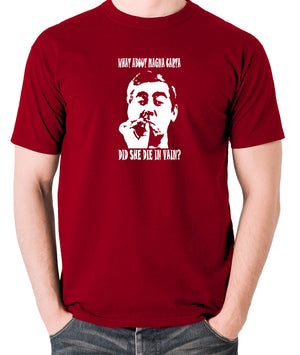 Tony Hancock - Hancock's Half Hour - What About Magna Carta Did She Die In Vain - Men's T Shirt - brick red