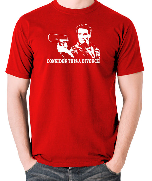 Total Recall - Douglas Quaid, Consider This A Divorce - Men's T Shirt - red