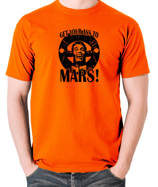 Total Recall - Douglas Quaid, Get Your Ass to Mars! - Men's T Shirt - orange