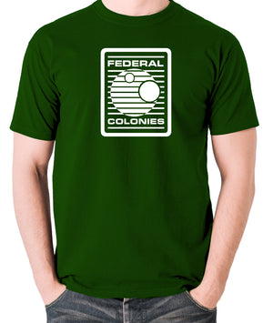 Total Recall - Federal Colonies Badge - Mens T Shirt - green