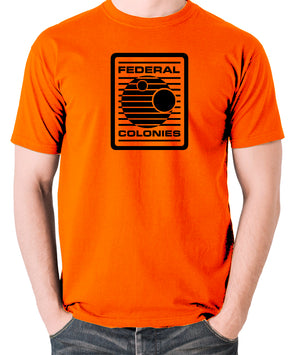 Total Recall - Federal Colonies Badge - Mens T Shirt - orange