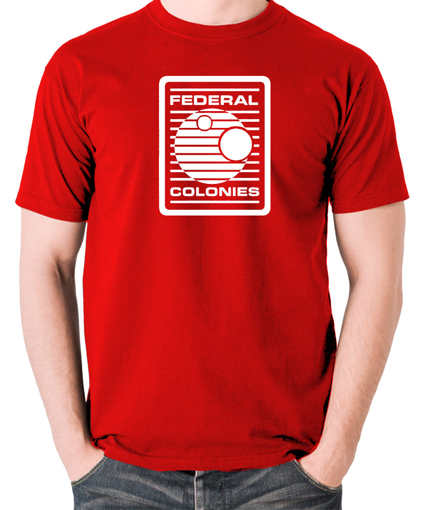 Total Recall - Federal Colonies Badge - Mens T Shirt - red