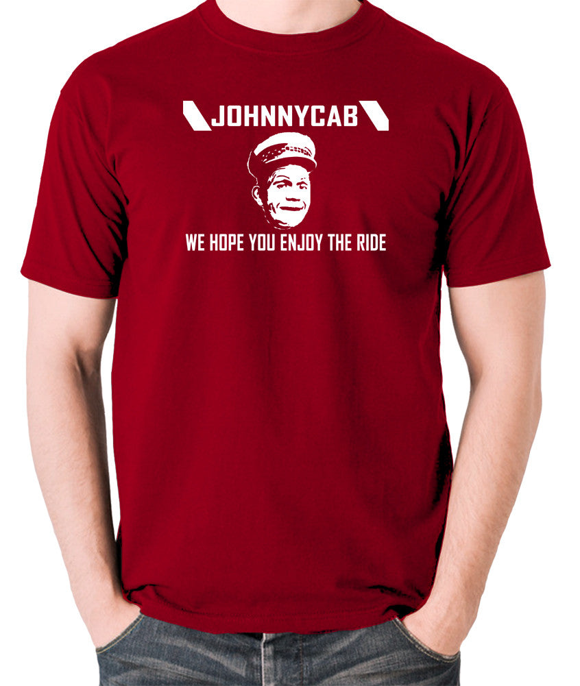 Total Recall - Johnnycab We Hope You Enjoy The Ride - Men's T Shirt - brick red