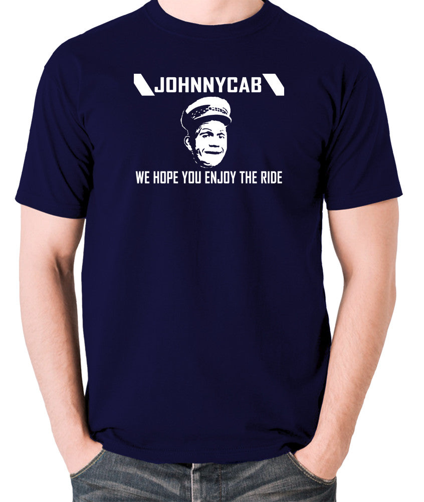 Total Recall - Johnnycab We Hope You Enjoy The Ride - Men's T Shirt - navy
