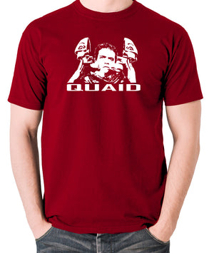 Total Recall - Quaid - Men's T Shirt - brick red