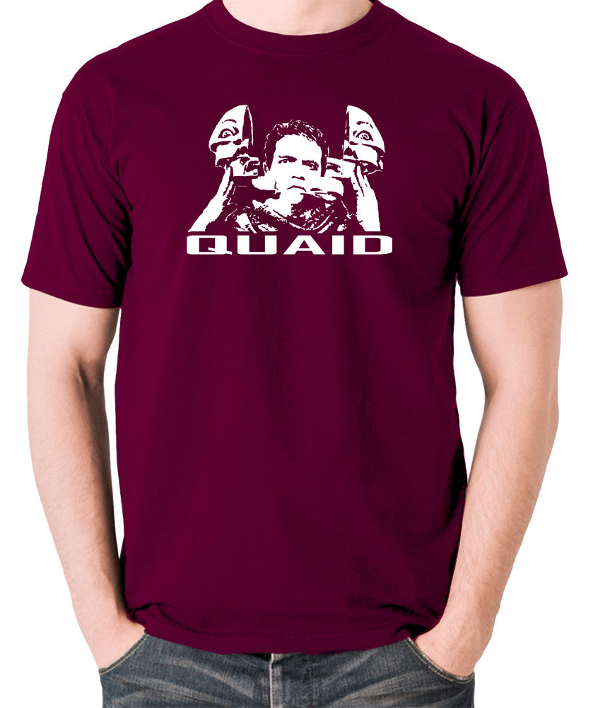 Total Recall - Quaid - Men's T Shirt - burgundy