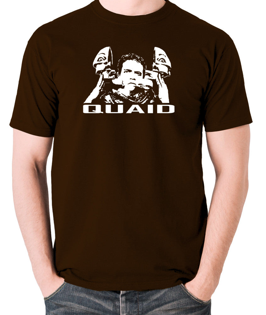 Total Recall - Quaid - Men's T Shirt - chocolate