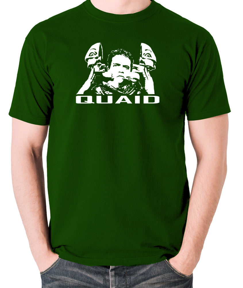 Total Recall - Quaid - Men's T Shirt - green