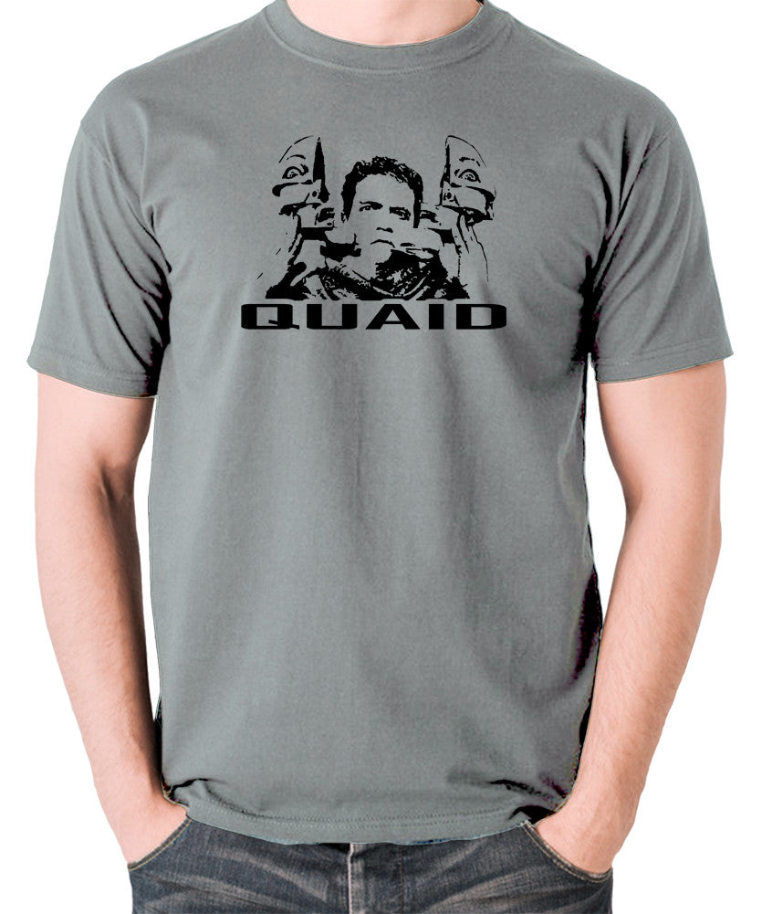 Total Recall - Quaid - Men's T Shirt - grey