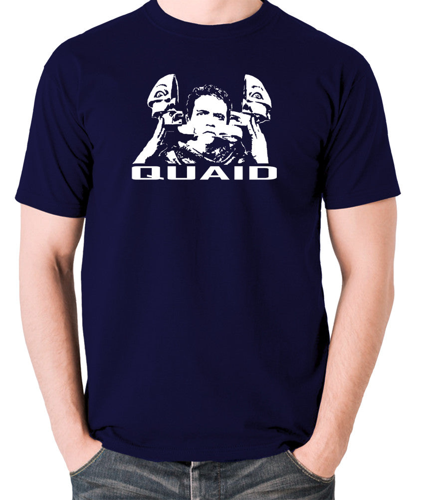 Total Recall - Quaid - Men's T Shirt - navy