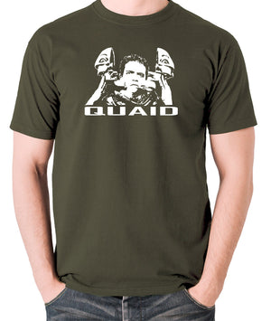 Total Recall - Quaid - Men's T Shirt - olive