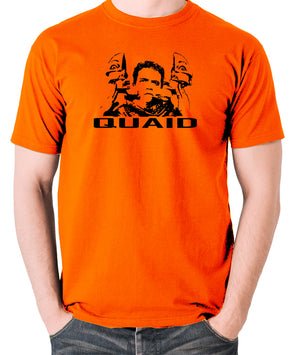 Total Recall - Quaid - Men's T Shirt - orange