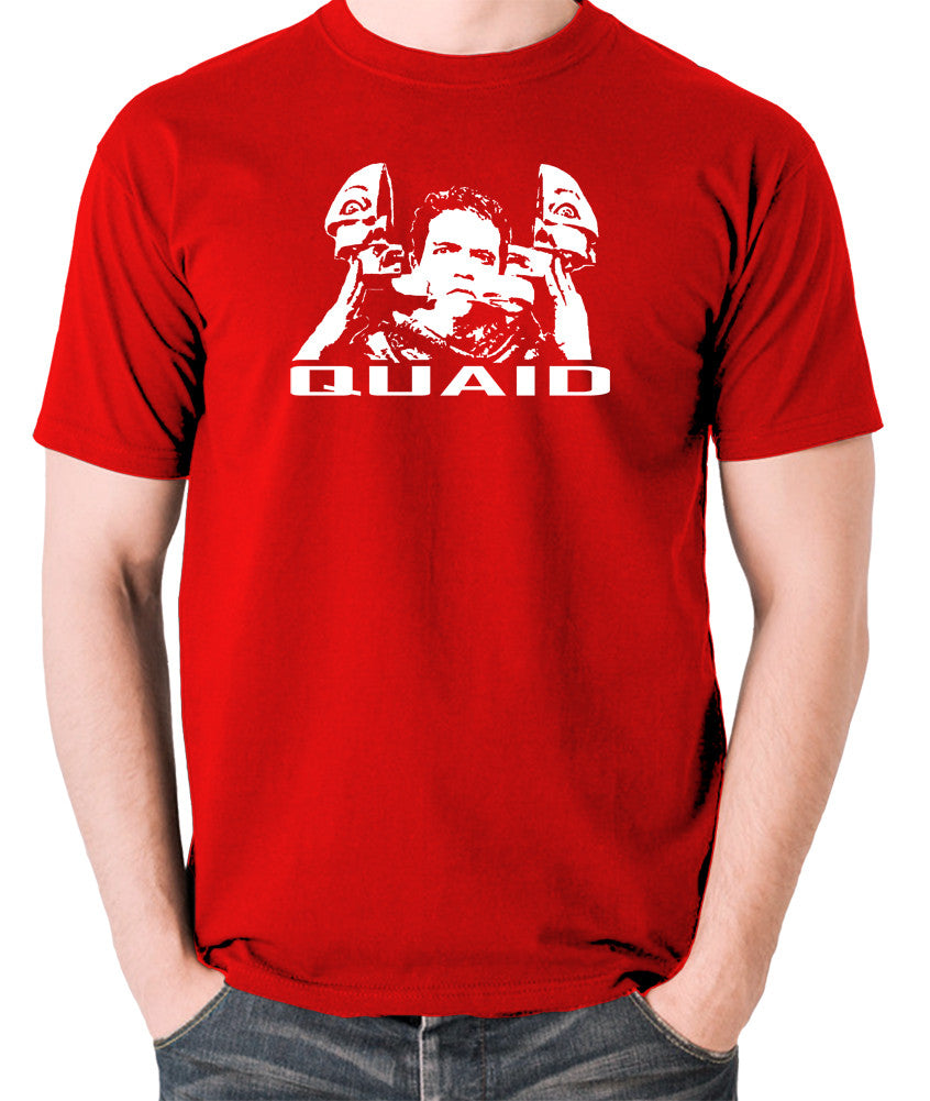 Total Recall - Quaid - Men's T Shirt - red