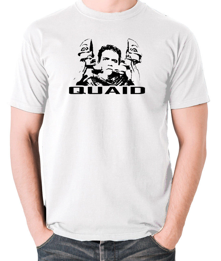 Total Recall - Quaid - Men's T Shirt - white