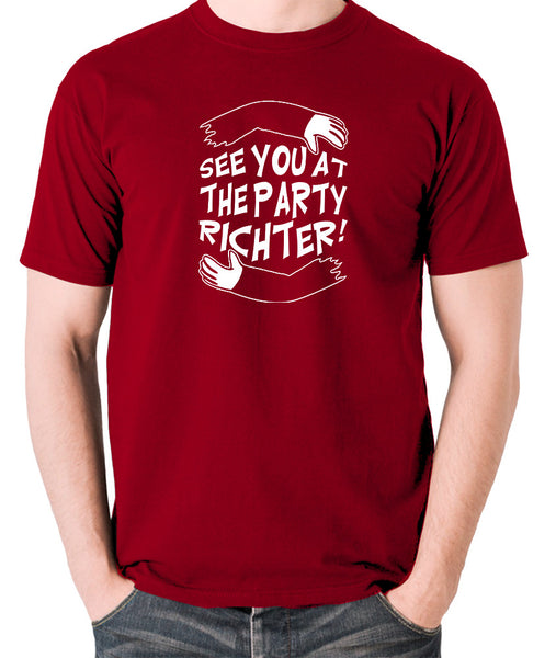 Total Recall - See You at the Party Richter - Men's T Shirt - brick red